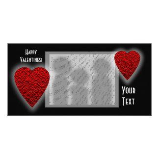 Heart Design. Valentine's Day. Photo Card Template