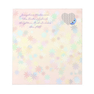 Heart Design with Flowers Notepad