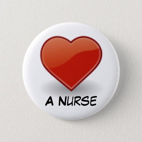 Heart Designs 6 Cm Round Badge