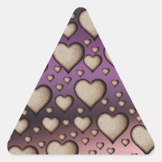 Heart Dew Triangle Sticker