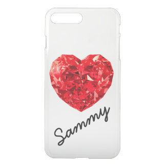 Heart Diamond Red Gem Name iPhone 7 Plus Case