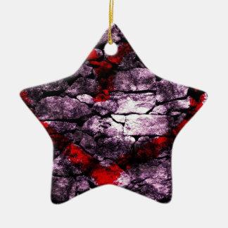 Heart Digital Graffiti Ceramic Star Decoration