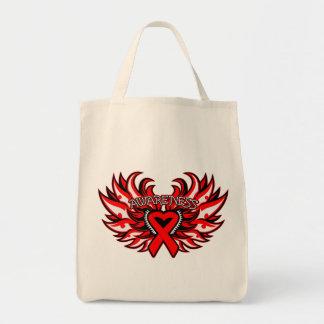 Heart Disease Awareness Heart Wings.png Bags