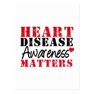 Heart Disease Awareness Matters Post Cards