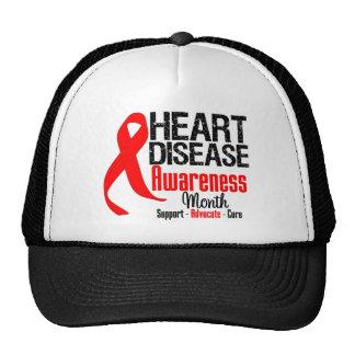 Heart Disease Awareness Month Ribbon Cap