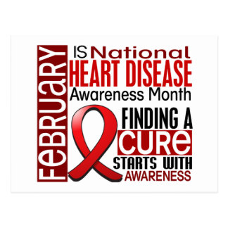 Heart Disease Awareness Month Ribbon I2.5 Postcard