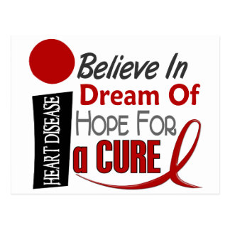 Heart Disease BELIEVE DREAM HOPE Postcard