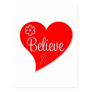 Heart Disease Believe Red Heart Postcard