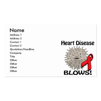 Heart Disease Blows Awareness Design Pack Of Standard Business Cards