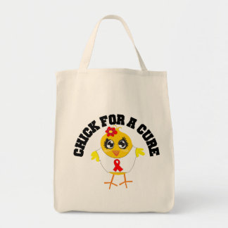 Heart Disease Chick For A Cure Canvas Bags