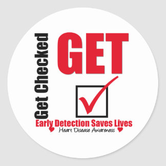 Heart Disease Early Detection Round Sticker