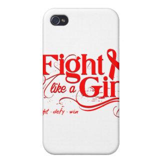 Heart Disease Fight Like A Girl Elegant iPhone 4/4S Case