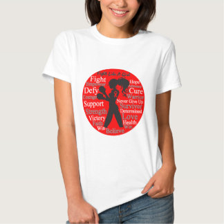 Heart Disease Fight Like A Girl Warrior Collage T Shirts
