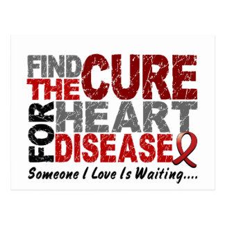Heart Disease Find The Cure 1 Postcard