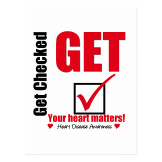 Heart Disease Get Checked Your Heart Matters Postcard