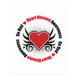 Heart Disease GO RED Postcard