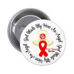 Heart Disease God Made My Hero An Angel Pinback Buttons