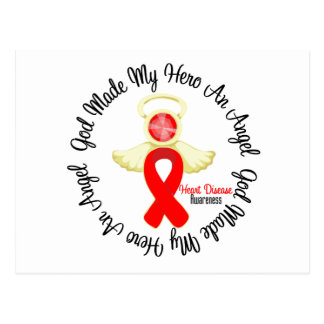 Heart Disease God Made My Hero An Angel Postcard