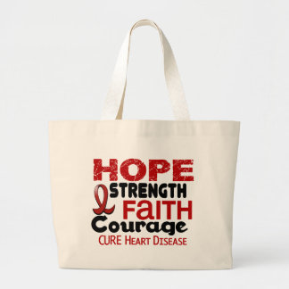 Heart Disease HOPE 3 Tote Bags