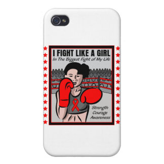 Heart Disease I Fight Like A Girl Ble Covers For iPhone 4