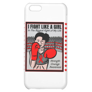 Heart Disease I Fight Like A Girl Ble Cover For iPhone 5C