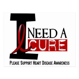 Heart Disease I NEED A CURE 1 Postcard