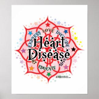 Heart Disease Lotus Posters