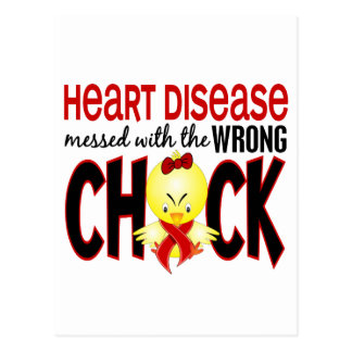 Heart Disease Messed With The Wrong Chick Postcard