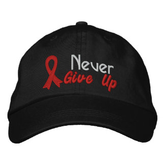 Heart Disease Never Give Up Embroidered Baseball Cap