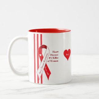 Heart Disease - Number One Killer of Women Two-Tone Coffee Mug