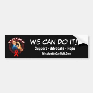 Heart Disease - Rosie The Riveter - We Can Do It Bumper Sticker