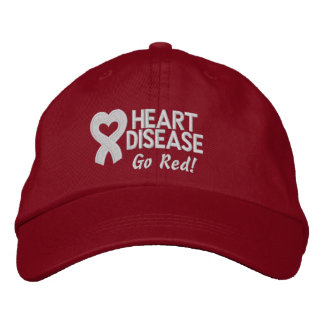 Heart Disease Survivor Embroidered Baseball Caps