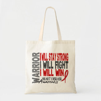 Heart Disease Warrior Canvas Bags