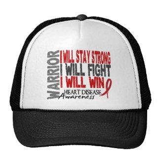 Heart Disease Warrior Trucker Hats
