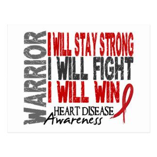 Heart Disease Warrior Postcard