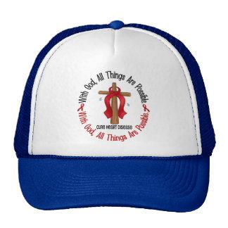 Heart Disease WITH GOD CROSS 1 Mesh Hat