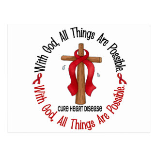 Heart Disease WITH GOD CROSS 1 Postcard