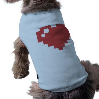 Heart Doggie Ribbed Tank Top Sleeveless Dog Shirt