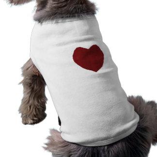 Heart ~ Doggie Tank Top Sleeveless Dog Shirt