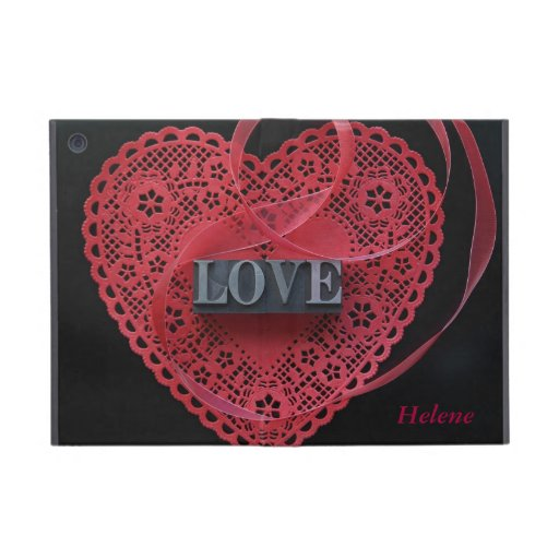 heart doily with love word iPad mini Powis case iPad Mini Cover