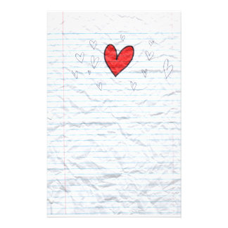 Heart Doodle Notebook Paper Personalized Stationery