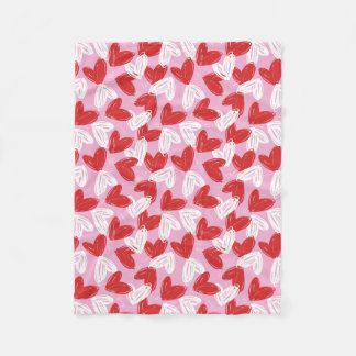 Heart Doodles fleece blankets