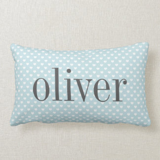 Heart Dot Pattern Nursery Personalized Pillow Cushion