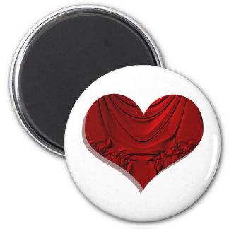 heart dramatic 6 cm round magnet