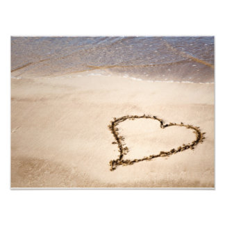 Heart Drawn in Sand at Beach - Customized Template Photo Art