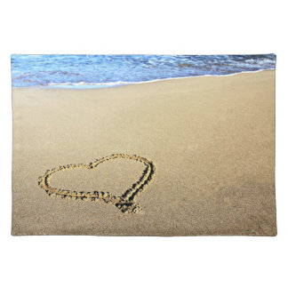 Heart Drawn in the Sand Placemat
