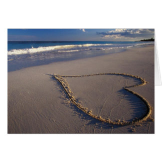 Heart Drawn on the Beach Greeting Card