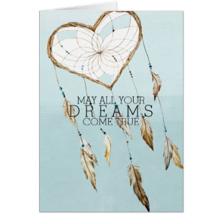 Heart Dream Catcher Card