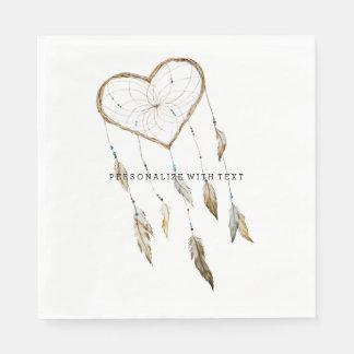 Heart Dream Catcher Paper Serviettes