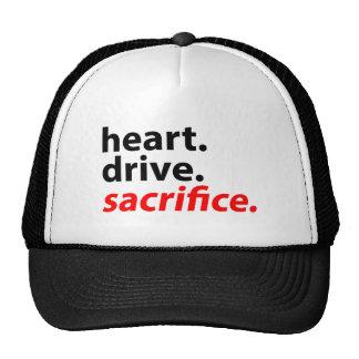 Heart Drive Sacrifice Fitness Motivation Slogan Cap